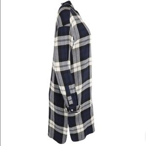 Theory Dresses - Theory Plaid Shirtdress in Navy Multi